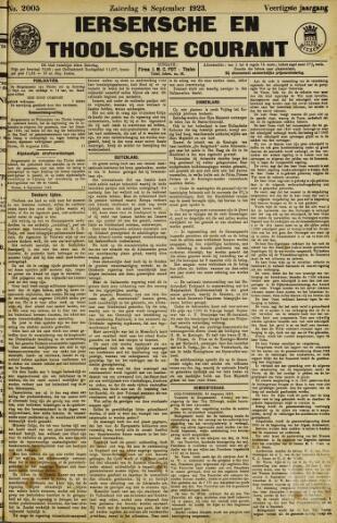 Ierseksche en Thoolsche Courant 1923-09-08