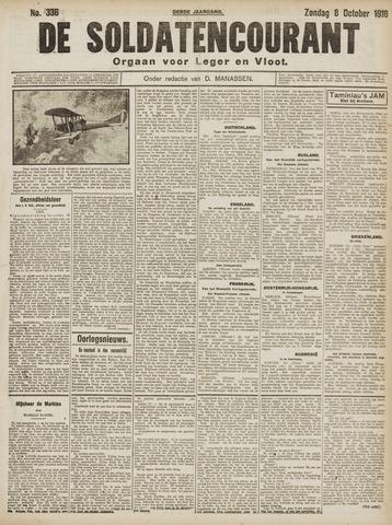 De Soldatencourant. Orgaan voor Leger en Vloot 1916-10-08