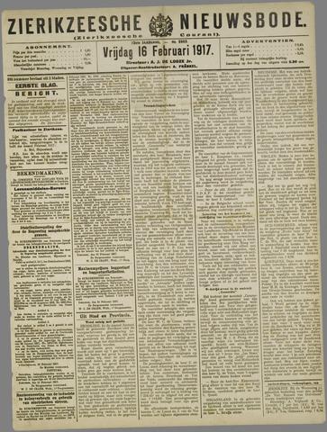 Zierikzeesche Nieuwsbode 1917-02-16