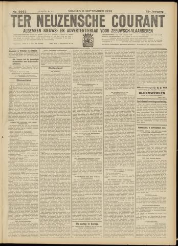 Ter Neuzensche Courant. Algemeen Nieuws- en Advertentieblad voor Zeeuwsch-Vlaanderen / Neuzensche Courant ... (idem) / (Algemeen) nieuws en advertentieblad voor Zeeuwsch-Vlaanderen 1939-09-08