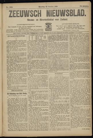 Ter Neuzensch Volksblad. Vrijzinnig nieuws- en advertentieblad voor Zeeuwsch- Vlaanderen / Zeeuwsch Nieuwsblad. Nieuws- en advertentieblad voor Zeeland 1919-10-25