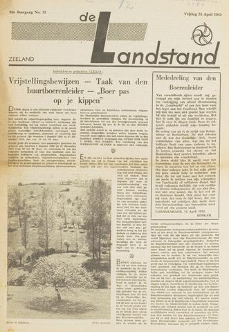De landstand in Zeeland, geïllustreerd weekblad. 1943-04-16