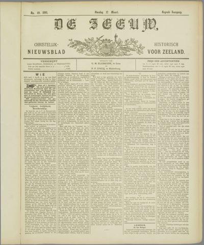 De Zeeuw. Christelijk-historisch nieuwsblad voor Zeeland 1895-03-12