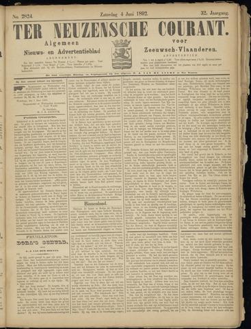 Ter Neuzensche Courant. Algemeen Nieuws- en Advertentieblad voor Zeeuwsch-Vlaanderen / Neuzensche Courant ... (idem) / (Algemeen) nieuws en advertentieblad voor Zeeuwsch-Vlaanderen 1892-06-04