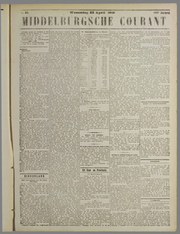Middelburgsche Courant 1919-04-23