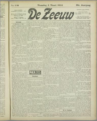 De Zeeuw. Christelijk-historisch nieuwsblad voor Zeeland 1924-03-03
