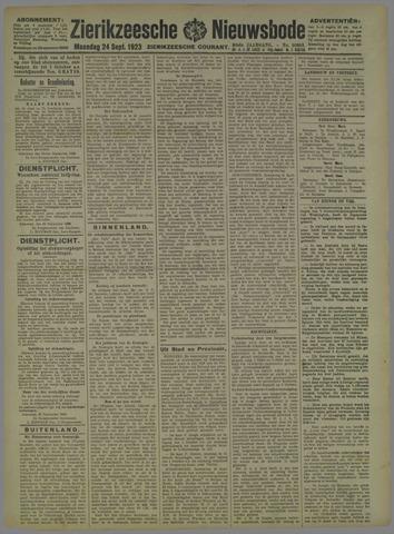 Zierikzeesche Nieuwsbode 1923-09-24