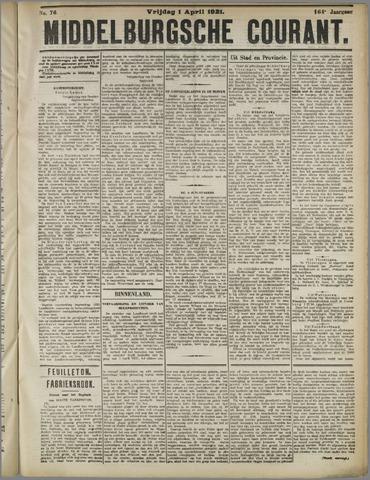 Middelburgsche Courant 1921-04-01