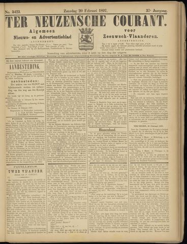 Ter Neuzensche Courant. Algemeen Nieuws- en Advertentieblad voor Zeeuwsch-Vlaanderen / Neuzensche Courant ... (idem) / (Algemeen) nieuws en advertentieblad voor Zeeuwsch-Vlaanderen 1897-02-20