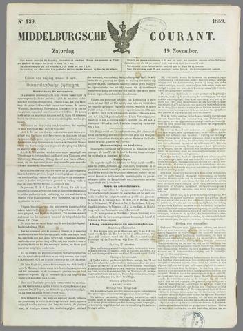 Middelburgsche Courant 1859-11-19