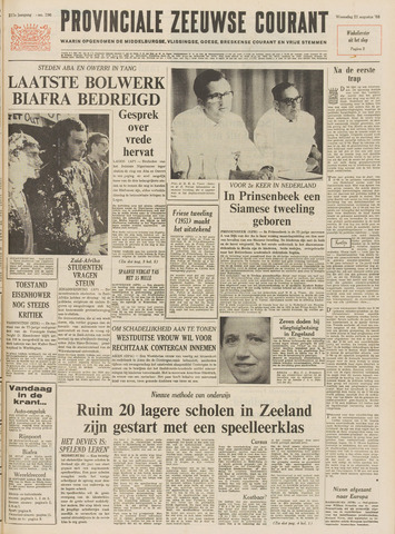 Provinciale Zeeuwse Courant 1968-08-21