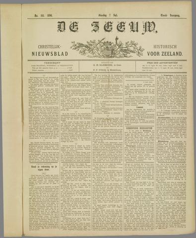 De Zeeuw. Christelijk-historisch nieuwsblad voor Zeeland 1896-07-07