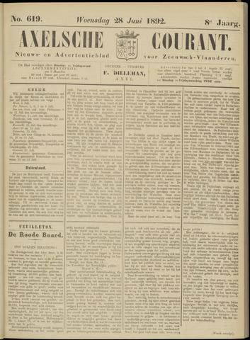 Axelsche Courant 1892-06-29
