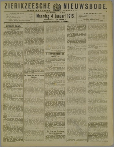 Zierikzeesche Nieuwsbode 1915-01-04