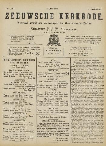 Zeeuwsche kerkbode, weekblad gewijd aan de belangen der gereformeerde kerken/ Zeeuwsch kerkblad 1890-07-13