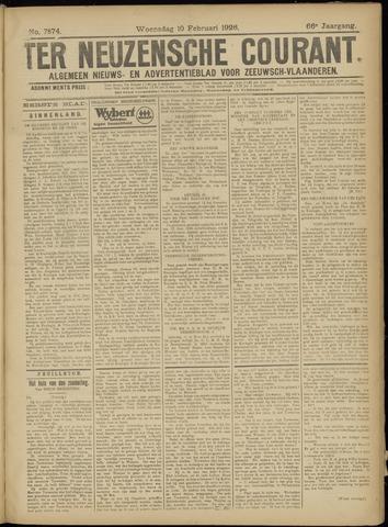 Ter Neuzensche Courant. Algemeen Nieuws- en Advertentieblad voor Zeeuwsch-Vlaanderen / Neuzensche Courant ... (idem) / (Algemeen) nieuws en advertentieblad voor Zeeuwsch-Vlaanderen 1926-02-10