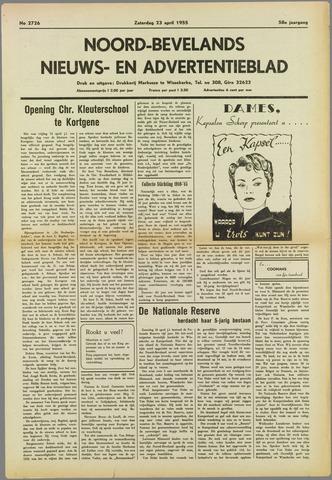 Noord-Bevelands Nieuws- en advertentieblad 1955-04-23