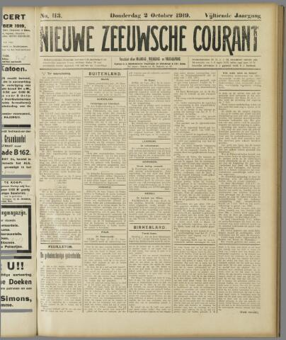 Nieuwe Zeeuwsche Courant 1919-10-02