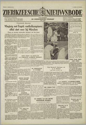 Zierikzeesche Nieuwsbode 1958-02-07