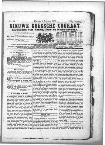Nieuwe Goessche Courant 1870-11-01