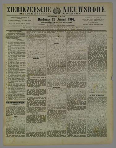 Zierikzeesche Nieuwsbode 1903-01-22