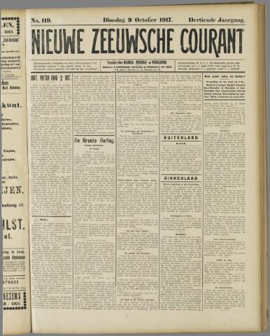 Nieuwe Zeeuwsche Courant 1917-10-09