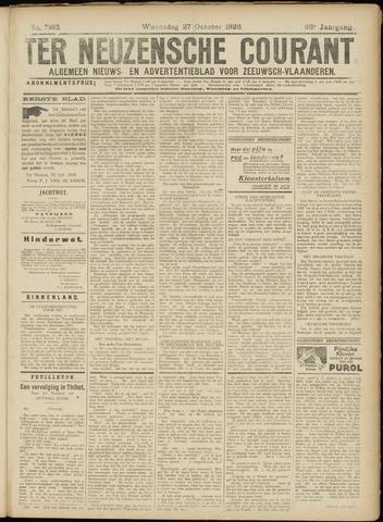 Ter Neuzensche Courant. Algemeen Nieuws- en Advertentieblad voor Zeeuwsch-Vlaanderen / Neuzensche Courant ... (idem) / (Algemeen) nieuws en advertentieblad voor Zeeuwsch-Vlaanderen 1926-10-27