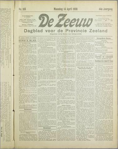 De Zeeuw. Christelijk-historisch nieuwsblad voor Zeeland 1930-04-14