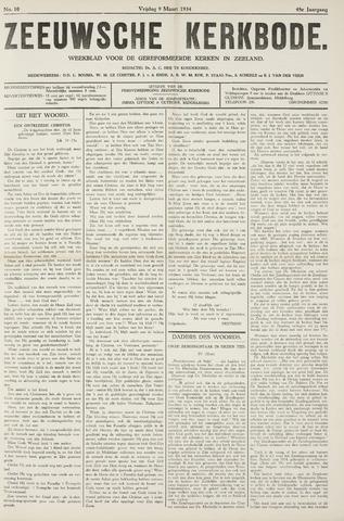 Zeeuwsche kerkbode, weekblad gewijd aan de belangen der gereformeerde kerken/ Zeeuwsch kerkblad 1934-03-09