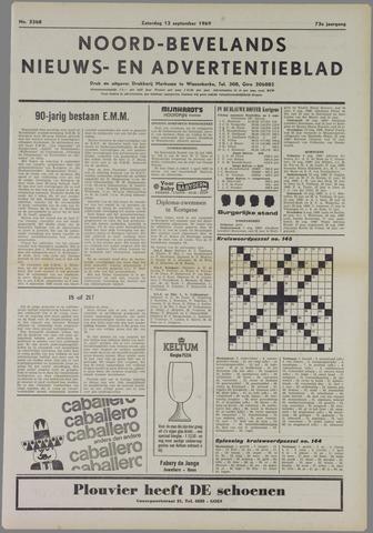 Noord-Bevelands Nieuws- en advertentieblad 1969-09-13