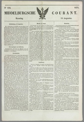Middelburgsche Courant 1871-08-14