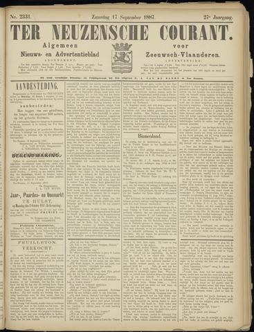 Ter Neuzensche Courant. Algemeen Nieuws- en Advertentieblad voor Zeeuwsch-Vlaanderen / Neuzensche Courant ... (idem) / (Algemeen) nieuws en advertentieblad voor Zeeuwsch-Vlaanderen 1887-09-17