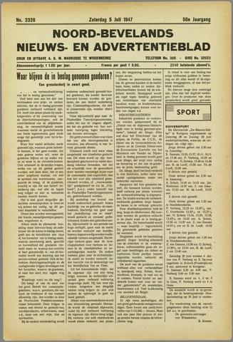 Noord-Bevelands Nieuws- en advertentieblad 1947-07-05