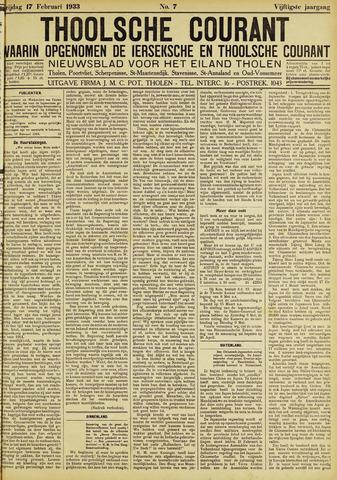 Ierseksche en Thoolsche Courant 1933-02-17