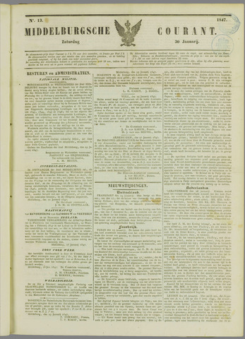 Middelburgsche Courant 1847-01-30