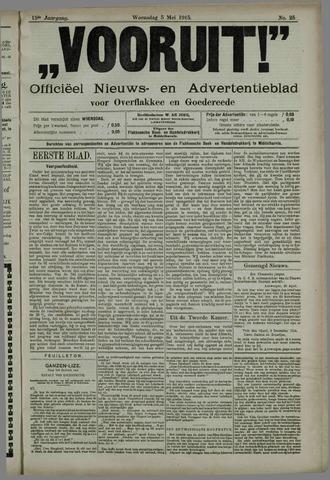 """""""Vooruit!""""Officieel Nieuws- en Advertentieblad voor Overflakkee en Goedereede 1915-05-05"""