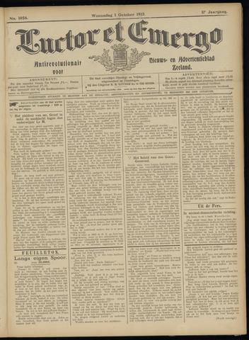 Luctor et Emergo. Antirevolutionair nieuws- en advertentieblad voor Zeeland / Zeeuwsch-Vlaanderen. Orgaan ter verspreiding van de christelijke beginselen in Zeeuwsch-Vlaanderen 1913-10-01