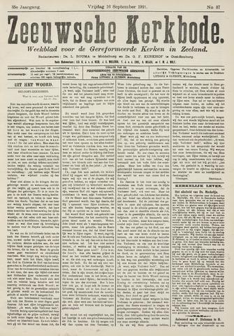 Zeeuwsche kerkbode, weekblad gewijd aan de belangen der gereformeerde kerken/ Zeeuwsch kerkblad 1921-09-16