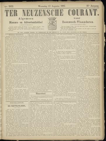 Ter Neuzensche Courant. Algemeen Nieuws- en Advertentieblad voor Zeeuwsch-Vlaanderen / Neuzensche Courant ... (idem) / (Algemeen) nieuws en advertentieblad voor Zeeuwsch-Vlaanderen 1887-08-17