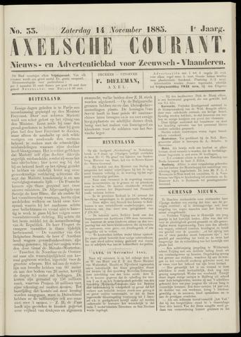Axelsche Courant 1885-11-14