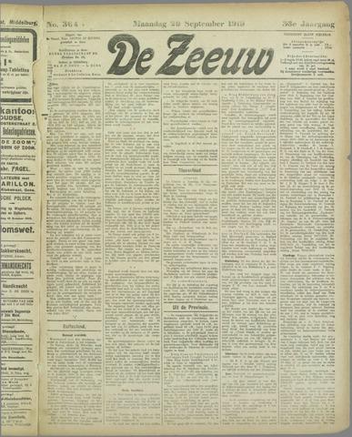 De Zeeuw. Christelijk-historisch nieuwsblad voor Zeeland 1919-09-29