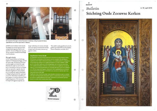 Bulletin Stichting Oude Zeeuwse kerken 2018-04-01