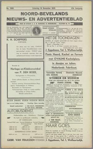 Noord-Bevelands Nieuws- en advertentieblad 1935-11-16