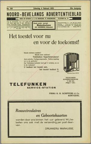 Noord-Bevelands Nieuws- en advertentieblad 1933-02-04