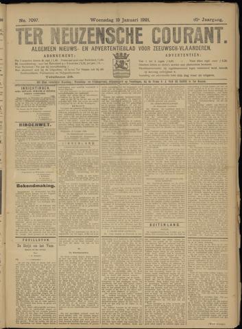 Ter Neuzensche Courant. Algemeen Nieuws- en Advertentieblad voor Zeeuwsch-Vlaanderen / Neuzensche Courant ... (idem) / (Algemeen) nieuws en advertentieblad voor Zeeuwsch-Vlaanderen 1921-01-19