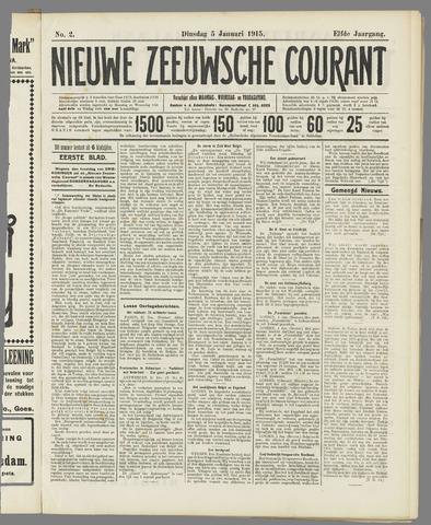 Nieuwe Zeeuwsche Courant 1915-01-05