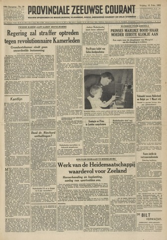Provinciale Zeeuwse Courant 1952-02-15