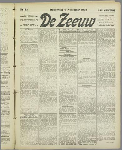 De Zeeuw. Christelijk-historisch nieuwsblad voor Zeeland 1924-11-06