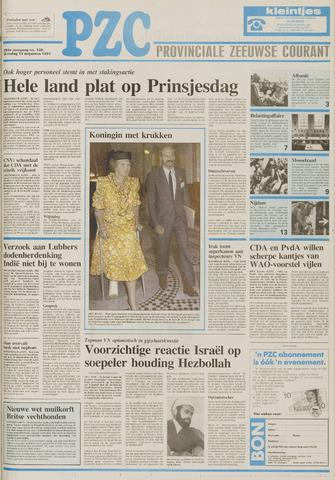 Provinciale Zeeuwse Courant 1991-08-13