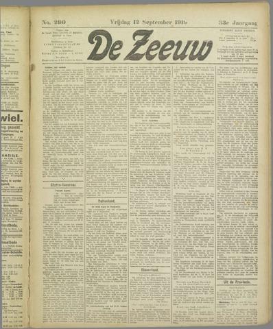 De Zeeuw. Christelijk-historisch nieuwsblad voor Zeeland 1919-09-12